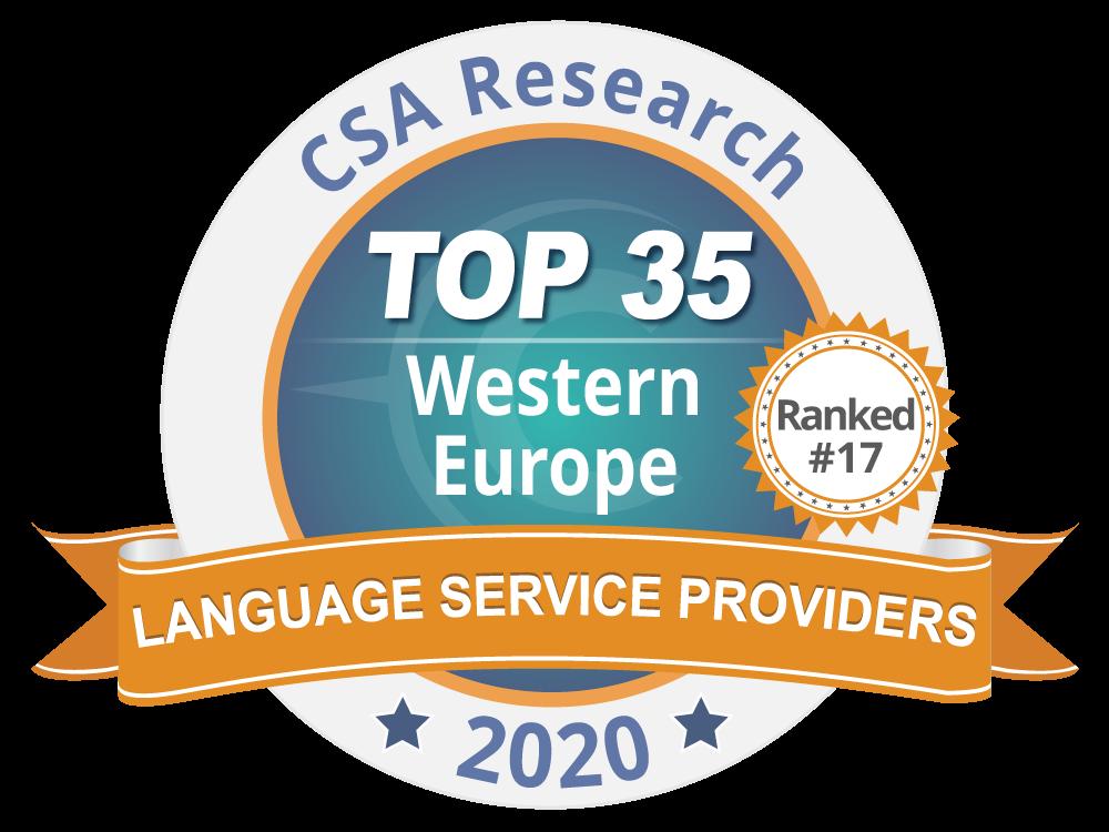 TradOnline et le groupe Tradutec à la 17ème place du TOP 35 européen des agences de traduction